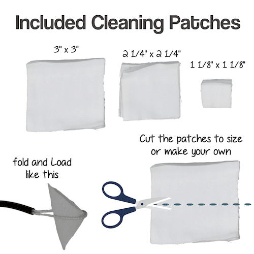About the Cleaning patches included with the BoreMan Cleaning Kit