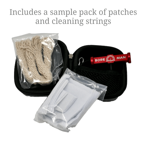 BoreMan Bore Barrel Cleaning Kit Includes Patches and Cleaning Strings