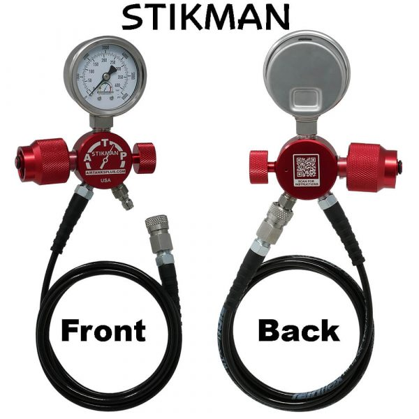 Stikman PCP Fill Adapter for SCBA Tanks front and back