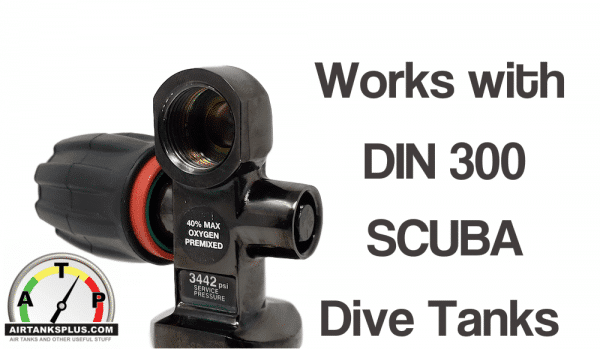 designed for scba DIN-300 dive tanks