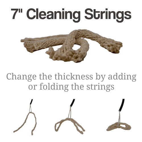 How to use the Cleaning Strings included with the BoreMan barrel cleaning kit