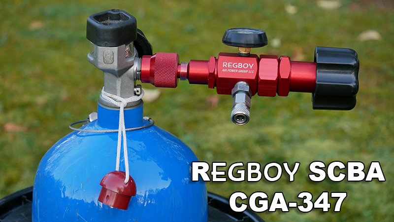 RegBoy external pcp airgun regulator on scba tank