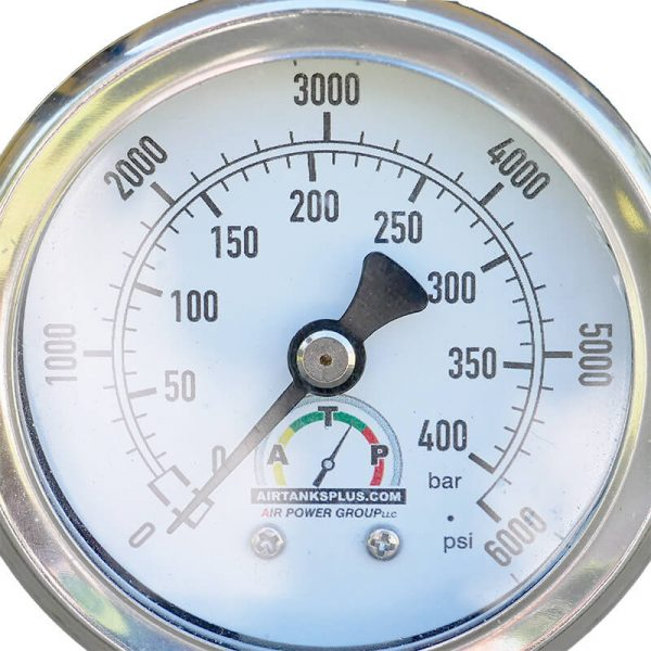Deluxe Stainless Steel Air Pressure Gauge