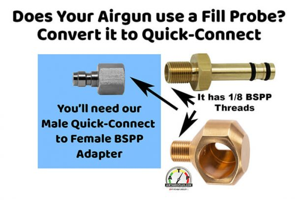 Quick-Connect Fill Probe Adapter for PCP Airguns